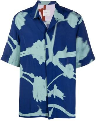 Paul Smith Screen-Floral print short-sleeve shirt