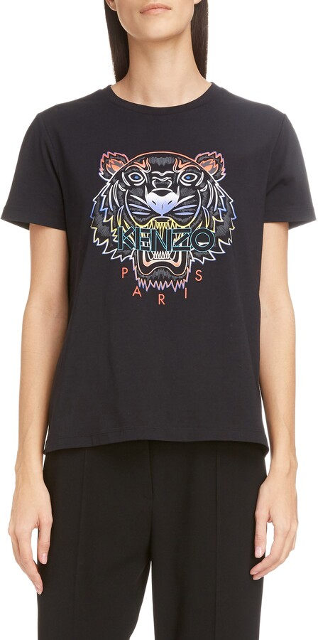 bb74590e Gradient Tiger Logo Graphic Tee