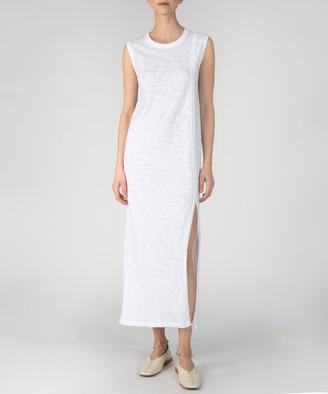 Atm Slub Jersey Muscle Tank Dress - White