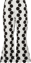 Thumbnail for your product : Paper London Cropped Guipure Lace Flared Pants