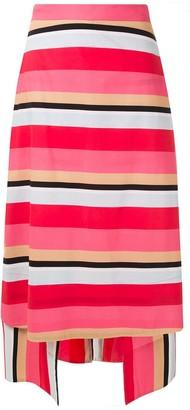 Eva Tropicaliente striped midi skirt
