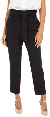 MICHAEL Michael Kors Paperbag Pull-On Pants (Black) Women's Casual Pants