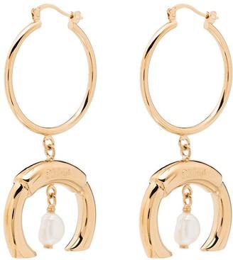 Chloé Hoop Drop Pearl Earrings