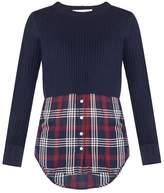Veronica Beard Garrett Mixed Media Sweater