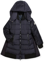 Moncler Blois Quilted and Wool-Blend Puffer Jacket, Size 4-6