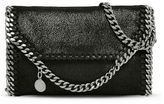 Stella McCartney black falabella shaggy deer tiny fold over tote