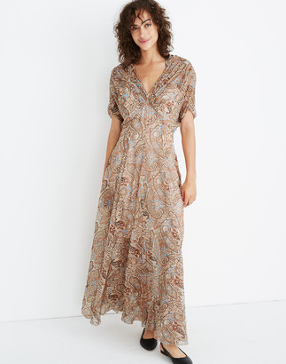 Madewell Karen Walker Silk Kensington Maxi Dress