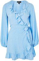 Topshop Spot Ruffle Tea Dress