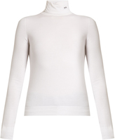 Calvin Klein Roll-neck long-sleeved cotton top