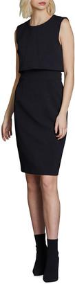 Toccin Sleeveless Overlay Sheath Dress