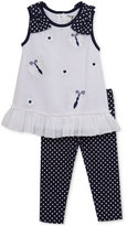 Rare Editions 2-Pc. Butterflies Tunic and Leggings Set, Baby Girls (0-24 months)