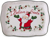 "Pfaltzgraff Winterberry ""I Believe in Santa"" Cookie Plate, Created for Macy's"
