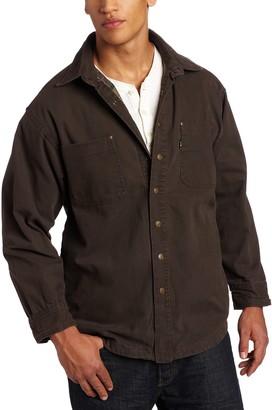 Key Apparel Men's Big and Tall & Tall Flannel Lined Duck Shirt Jac