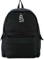 Ann Demeulemeester slogan backpack - women - Cotton - One Size