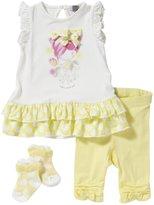 Petit Lem Cotton Candy 2 Piece Set (Baby) - Yellow-6 Months