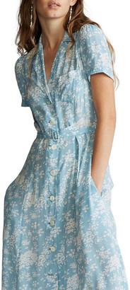 Polo Ralph Lauren Floral Crepe Midi Dress