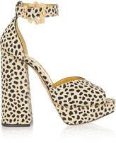 Charlotte Olympia Chantale cheetah-print calf hair platform sandals