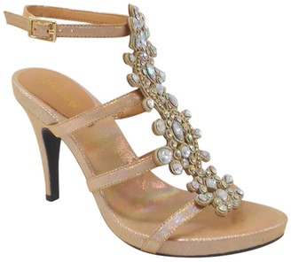 J. Renee Evadine Embellished Ankle Strap Sandal - Multiple Widths Available