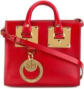 Sophie Hulme top handles crossbody bag - women - Calf Leather/metal - One Size