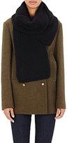 Barneys New York Women's Zigzag-Stitched Scarf-BLACK