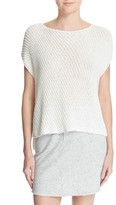 ATM Anthony Thomas Melillo Diagonal Stitch Cotton Blend Sweater