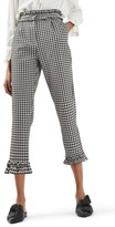 Topshop Women's Gingham Ruffle Trousers