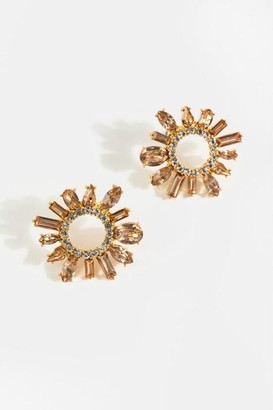 francesca's Mallory Crystal Cluster Studs - Champagne