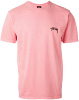 Stussy back logo print T-shirt - men - Cotton - M