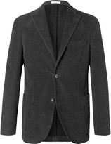 Boglioli - Charcoal K-jacket Slim-fit Cotton-moleskin Blazer
