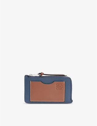 Loewe Anagrammed leather coin and card wallet