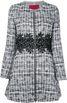 Moncler Gamme Rouge zipped tweed coat - women - Silk/Cotton/Acrylic/other fibers - 1