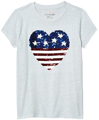 crewcuts by J.Crew American Heart T-Shirt (Little Kids/Big Kids) (American Heart) Girl's Clothing