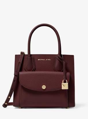 MICHAEL Michael Kors Mercer Medium Pebbled Leather Pocket Tote Bag