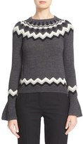 RED Valentino Women's Fair Isle Sweater