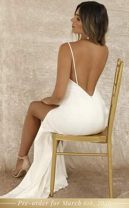 Showpo PRE-ORDER Fairy Tale Gown In White - 6 (XS) Bridal Gowns