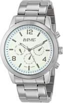 August Steiner Men's AS8098SS Analog Display Swiss Quartz Silver Watch