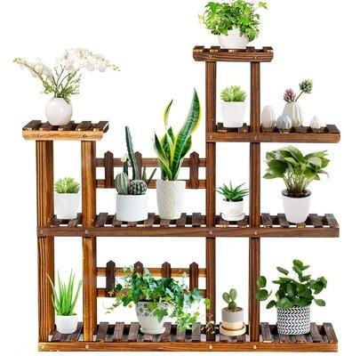 Thumbnail for your product : Red Barrel Studio Botyu Rectangular Corner Plant Stand