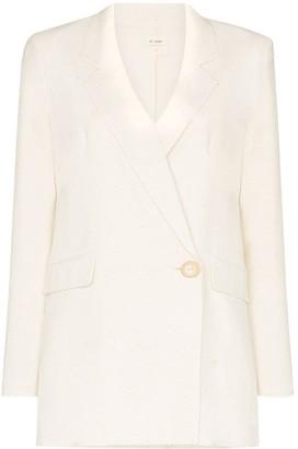 ST. AGNI Hajime Tencel and line-blend blazer