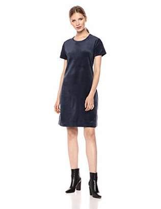 Amazon Brand - Daily Ritual Women's Velour Short-Sleeve Lounge Dress
