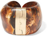 Dinosaur Designs Bold Stone Gold-plated Resin Cuff - Brown
