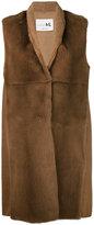 Manzoni 24 - sleeveless fur jacket - women - Mink Fur/Cashmere/Wool - 42