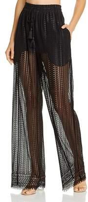 Jonathan Simkhai Cabernet Lace Swim Cover-Up Pants