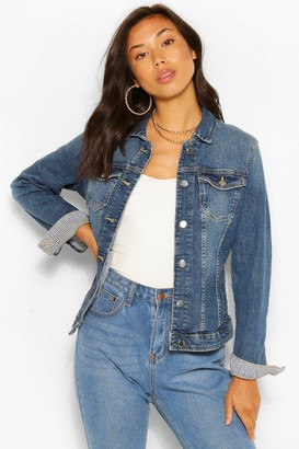 boohoo Vintage Wash Denim Jacket