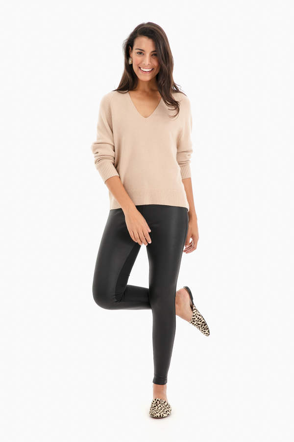 "Willow & Clay Leather"" Leggings"