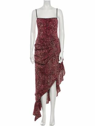 Rasario Printed Long Dress w/ Tags Pink