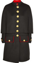 Burberry Cape-back Wool And Cashmere-blend Coat - Black