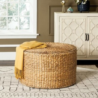 Bay Isle Home Willow Drum End Table Color: Natural