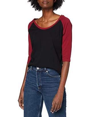 Urban Classic Women's Ladies 3/4 Contrast Raglan Tee T-Shirt,S