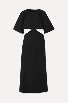Georgia Alice Bestie Cutout Crepe Midi Dress - Black