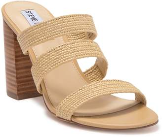 Steve Madden Cascade Triple Strap Block Heel Sandal
